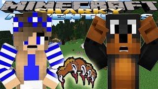 Minecraft Adventure - Sharky and Scuba Steve - SAVING THE BEAR CUB w/ Donut The Dog & Little Carly