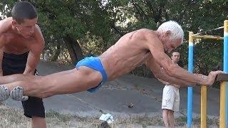 getlinkyoutube.com-Super Strong 73 Year Old ( Street Workout old man )