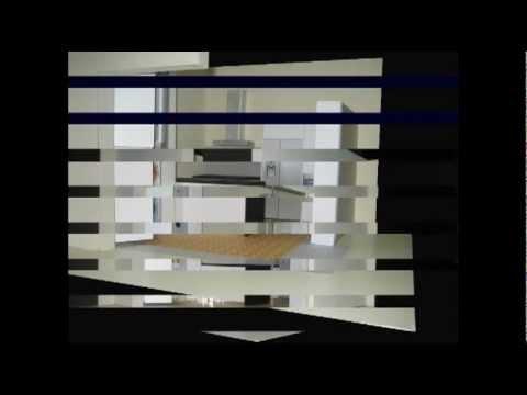 Diseño con modelos: Cocina moderna en piso modernista
