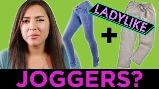 getlinkyoutube.com-Women Try To Wear Fancy Sweatpants • Ladylike