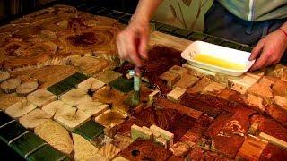 Panels made of wood Part-2. Панно из дерева. Часть-2. Укладка спилов.