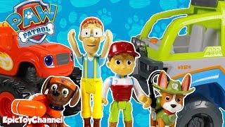 getlinkyoutube.com-PAW PATROL Magic Surprise at Paw Patrol Jungle Blaze, Peppa Pig & Disney Cars Toy + Surprise Eggs