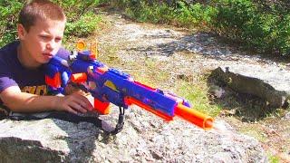 getlinkyoutube.com-Nerf War: Insane Nerf Gun War 4