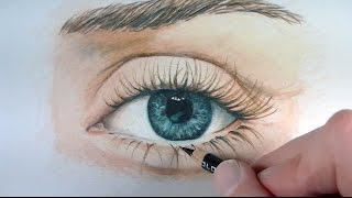 getlinkyoutube.com-Draw a Realistic Eye with Colored Pencils