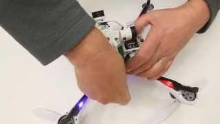 getlinkyoutube.com-Tarantula X6 fitting Walkera G 2D gimbal and battery mod.