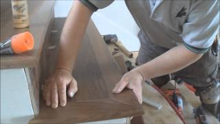 getlinkyoutube.com-Hardwood Flooring on Stairs: Installing Open Sided Staircase Nosing Tread and Riser from A to Z