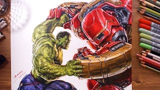 getlinkyoutube.com-Avengers : Hulk vs Hulkbuster(Veronica) - speed drawing | drawholic