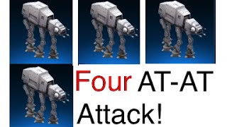 Star Wars: Commander - 4 AT-AT (Pro Attack Strategy)