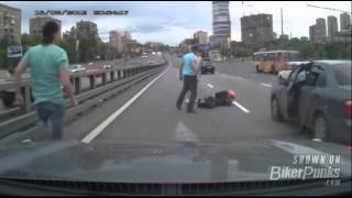 Nasty Motorcycle Crash With Terrible Injuries