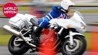 getlinkyoutube.com-第46回全国白バイ安全運転競技大会2015ハイライト @白バイ男女日本一決戦!/ 威風堂々白バイ行進 POLICE MOTORCYCLE OF JAPAN