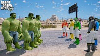getlinkyoutube.com-POWER RANGERS Vs THE HULK (GTA 5 Mods Funny Moments)