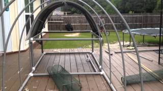 getlinkyoutube.com-PVC Chicken Tractor - Part 1