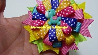 getlinkyoutube.com-Como Hacer  moños Elegantes  de listón,hair bows, Moños navidad