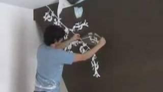 getlinkyoutube.com-Blossom Wall Sticker - How to fit (Fast)