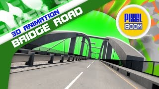 Green Screen Bridge Road Skyline - Footage PixelBoom