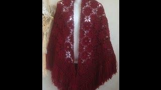 getlinkyoutube.com-Очень простой и красивый мотив для шали.Beautiful motif for shawls