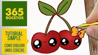getlinkyoutube.com-COMO DIBUJAR UNAS CEREZAS KAWAII PASO A PASO - Dibujos kawaii faciles - How to draw a cherry