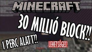 getlinkyoutube.com-30 MILLIÓ BLOCK EGYETLEN PERC ALATT!? | MINECRAFT
