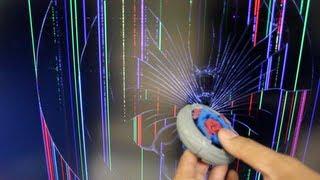getlinkyoutube.com-Beyblade BROKE MY TV!! - Hasbro BEYWHEELZ GONE WRONG =(