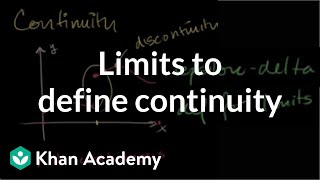 Limits to define continuity