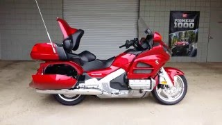 getlinkyoutube.com-2016 Honda Gold Wing Walk-Around Video | Candy Red GL1800 Touring Motorcycle