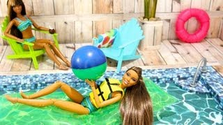 getlinkyoutube.com-How to Make a Doll Swimming Pool - Doll Crafts