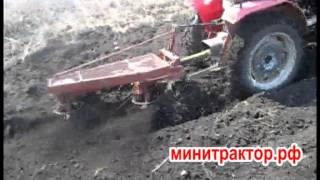 getlinkyoutube.com-Вспашка роторным плугом на минитракторе весной 2013 года