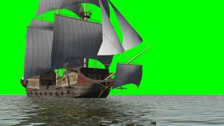 getlinkyoutube.com-historic sailing ship - green screen