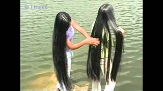 getlinkyoutube.com-Ltress commission - Hong and Van's knee length silky hair by the lake