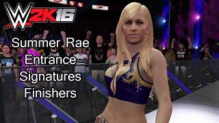 getlinkyoutube.com-WWE 2K16 PS4 - Summer Rae Entrance, Signatures & Finishers
