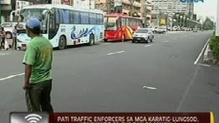 getlinkyoutube.com-24 Oras: Pati traffic enforcers sa mga karatig-lungsod, konsumido sa bus ban sa Maynila