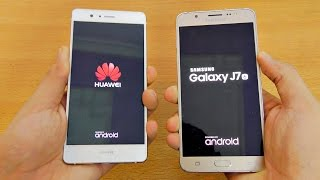 Huawei P9 Lite vs Samsung Galaxy J7 (2016) - Speed Test (4K)