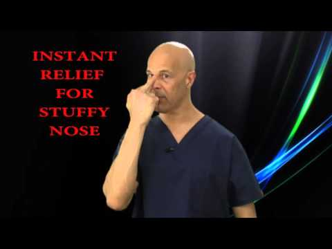 Instant Relief Point to Unblock a Blocked Stuffy Nose - Dr Mandell