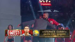 NBA 2016 All-Star Game Player Introduction (starters+bench) HD