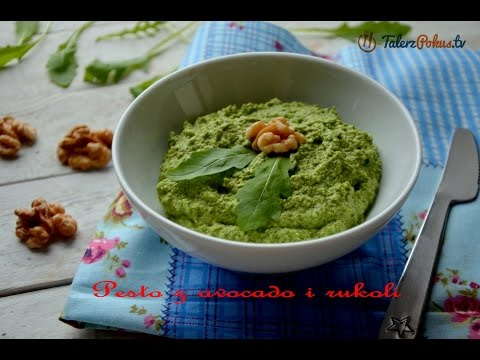 Pesto z avocado i rukoli