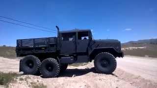 getlinkyoutube.com-BMY M931A2 5 ton quad cab - military truck crew cab - wheel articulation