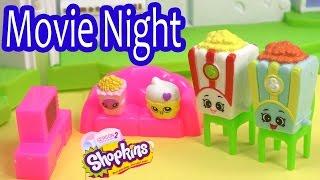 getlinkyoutube.com-Shopkins Season 2 FAMILY MOVIE NIGHT Glitzi Globes Kids Video Fun Friends House Playset Play