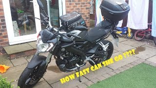 getlinkyoutube.com-Yamaha MT-125 ABS Top Speed (well nearly) #3