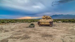 getlinkyoutube.com-WE GOT INSIDE! Abandoned Military M551 Light Armor Tank In The Middle Of Nowhere