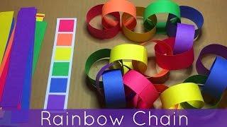 getlinkyoutube.com-Rainbow Chain For Preschool and Kindergarten Fine Motor Development and Color Recognition