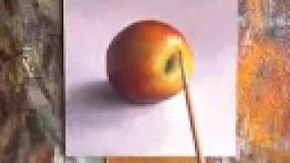 getlinkyoutube.com-Apple - Daily Painting by Jos van Riswick