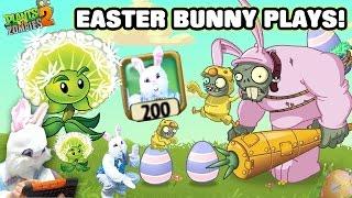 getlinkyoutube.com-Easter Bunny Plays PVZ 2! Egg Breaker w/ Rabbit Power Up? + Dandelion (Face Cam w/ Special Effects)
