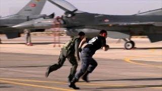 getlinkyoutube.com-Jordanian, Turkish, American F-16 Pilots Compete in Falcon Air Meet