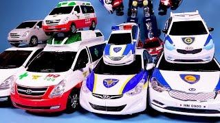 getlinkyoutube.com-헬로카봇 또봇 변신, 파워레인저 다이노포스 타요 장난감 Hello Carbot Tobot Transforming car Robot toys
