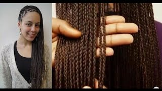 getlinkyoutube.com-Box Braids || Vlechten ||  How to Box braids on Caucasian hair ||