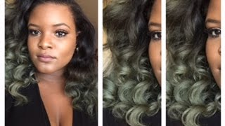 getlinkyoutube.com-How To Dye Your Hair Silver / Olive Green