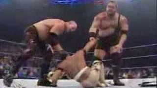Batista helps Rey Mysterio