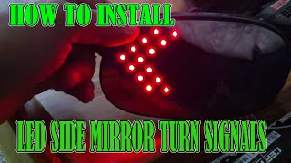 """getlinkyoutube.com-How To Install Side View Mirror Turn Signals """"LED LIGHTS"""""""