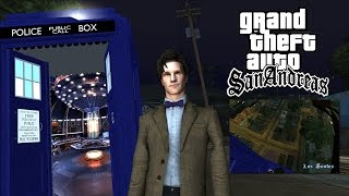 getlinkyoutube.com-Grand Theft Auto - Matt Smith Player Model! - Tardis Mod!