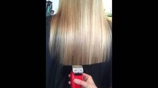 cutting long hair with clipper ellen naaktgeboren